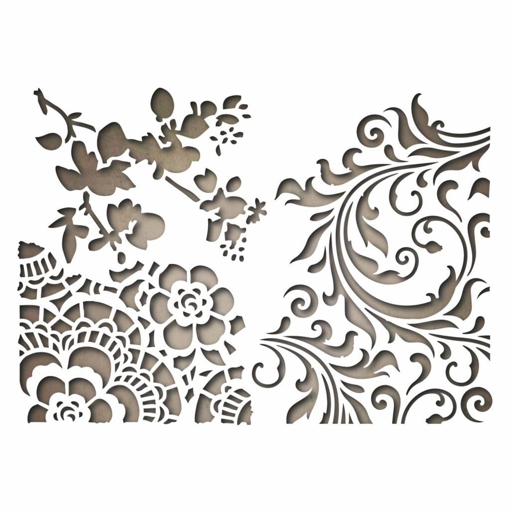Květiny mixed média - vyřezávací kovové šablony Thinlits (3ks)