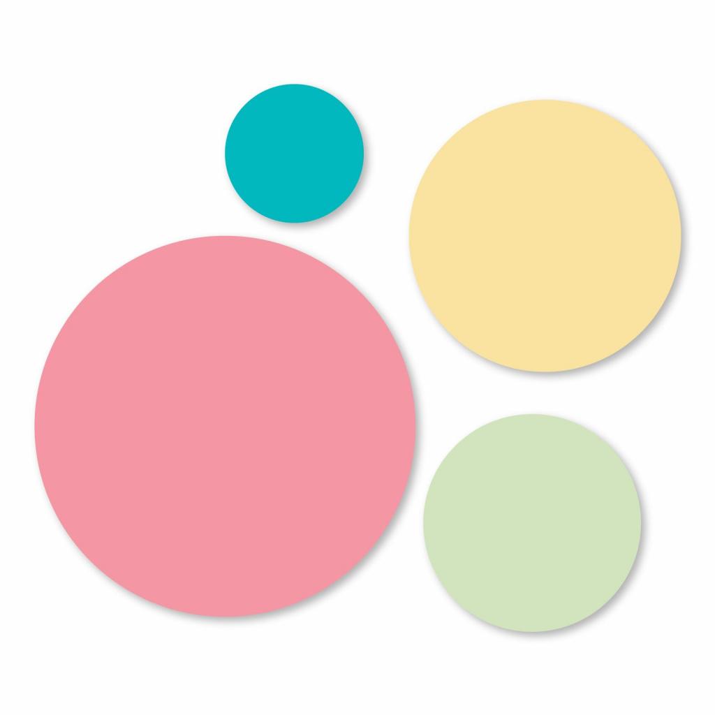Kruhy - vyřezávací kovové šablony Framelits (4ks)