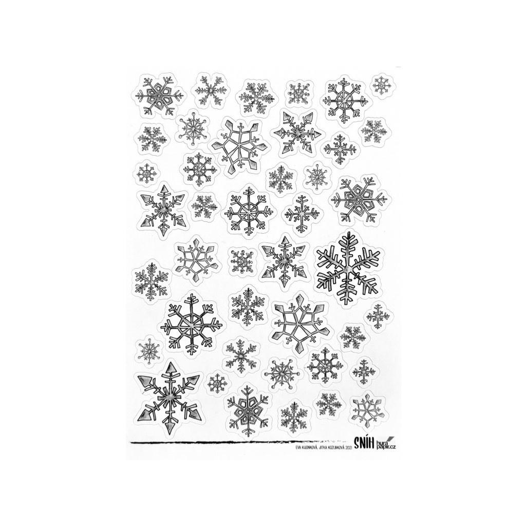 snehove vločky samolepky