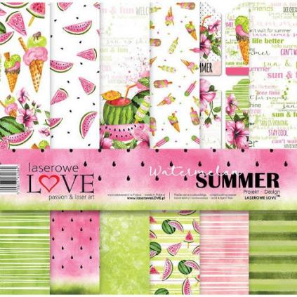 pol pl Papier do scrapbookingu 30x30cm Watermelon Summer zestaw 34471 1