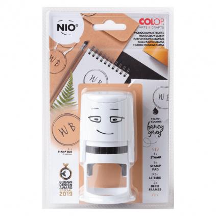 nio monogram nio stamp stationary set nim003