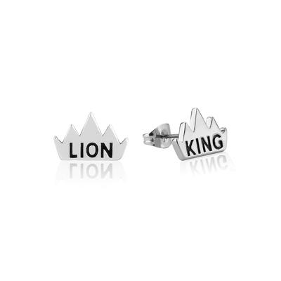 Disney_The_Lion_King_Crown_White_Gold_Stud_Earrings_DLSE205_400x