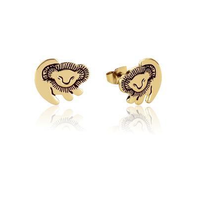 Disney_The_Lion_King_Simba_Yellow_Gold_Stud_Earrings_DLYE210_400x