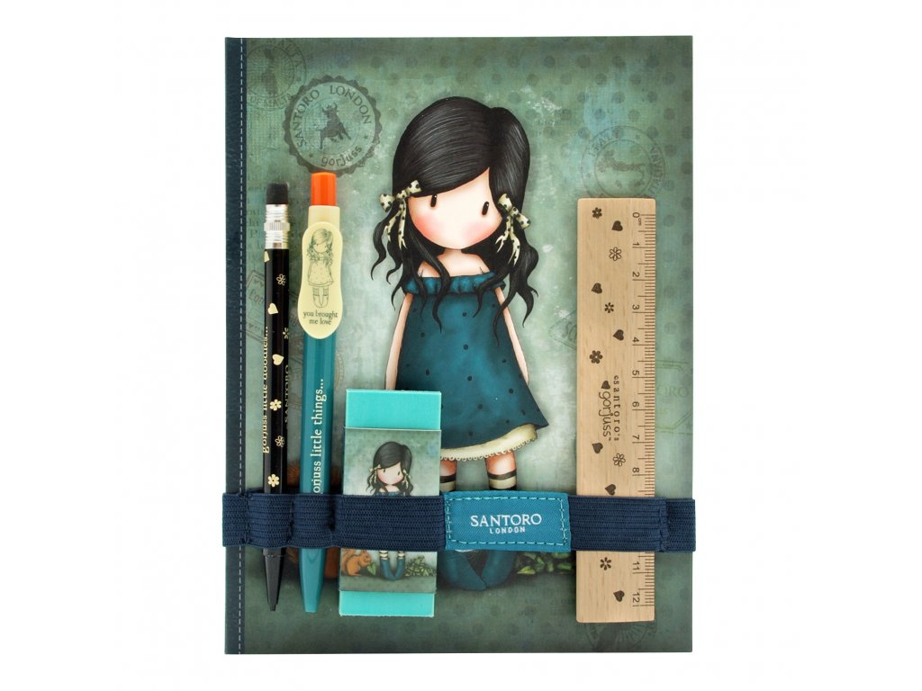 602GJ04 Gorjuss Vacation Notebook with Stationery Set YBML Front Stationery  WR ad2ead6ffd