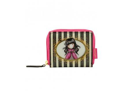 462GJ06 Gorjuss Classic Stripes Mini Zip Wallet Ladybird 1 WR