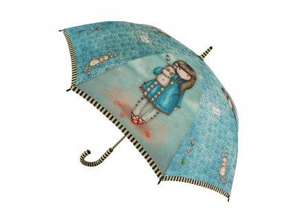 76 0008 10HB Gorjuss Long Lady Umbrella HLB Open WR