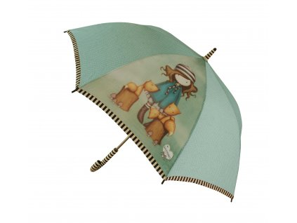 76 0012 10TF Gorjuss Long Lady Umbrella The Foxes Open WR