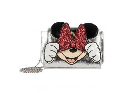 "Disney - Stříbrná ""Cross Body"" kabelka Minnie Mouse"
