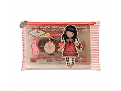 819GJ02 Gorjuss Cityscape PVC Pencil Case with Stationery Set TTF 1 WR