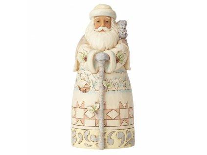 Winter Adventure Awaits (White Woodland Santa with Cane)