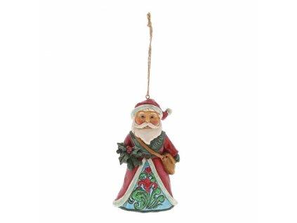 Winter Wonderland Santa Holly (Ornament)
