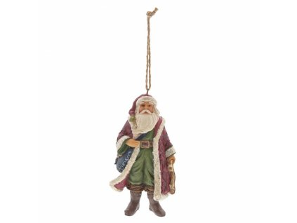 Victorian Santa with Satchel (Ornament)