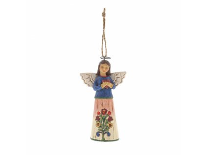Folklore Angel with Heart (Ornament)