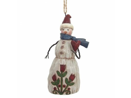 Folklore Snowman With Heart (Ornament)
