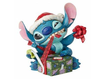 Disney Traditions - Bad Wrap (Stitch with Santa Hat)