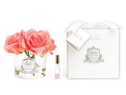five rose white peach clear glass with box 900x