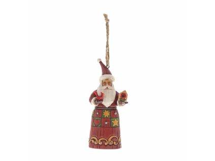 Folklore Santa with Birdhouse (Ornament)