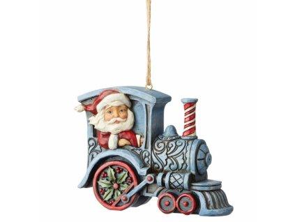 Santa In Train Engine (Ornament)