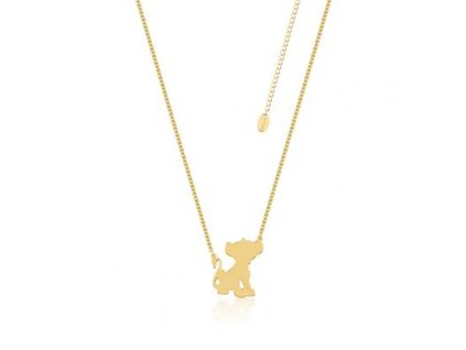 Disney The Lion King Simba Yellow Gold Necklace DLN115 400x