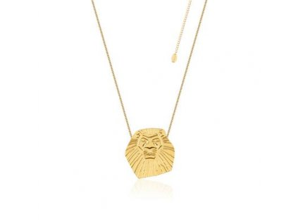 Disney The Lion King Simba Yellow Gold Necklace DLN102 400x