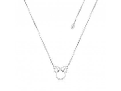 SPN019 Disney Minnie Mouse Bow Outline Stainless Steel Necklace 1000x1000