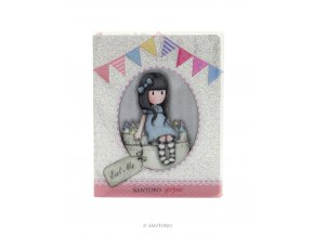 742GJ02 Gorjuss Glitter Notebook with PVC Cover Sweet Cake 1 WR