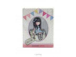 742GJ02 Gorjuss Glitter Notebook with PVC Cover Sweet Cake 1 WR