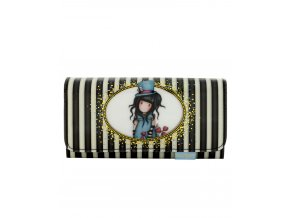 341GJ12 Gorjuss Classic Stripes Long Wallet The Hatter 1 WR