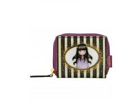 462GJ07 Gorjuss Classic Stripes Mini Zip Wallet Oops a Daisy 1 WR