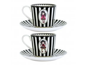 642GJ01 Gorjuss Teacup and Saucers Ruby Ladybird 2 WR