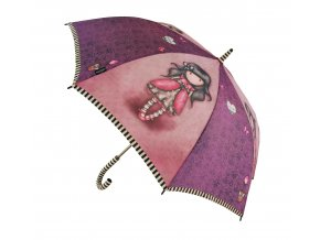 76 0008 10LB Gorjuss Long Lady Umbrella Ladybird Open WR