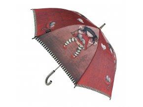 76 0004 10RB Gorjuss Long Lady Umbrella Ruby Open WR