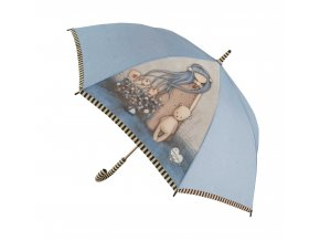 76 0012 10DA Gorjuss Long Lady Umbrella Dear Alice Open WR