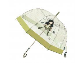 76 0013 10TW Gorjuss Clear Long Lady Umbrella OTOTW Open WR