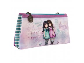 324GJ13 Gorjuss Cityscape Double Pencil Case FWT 1 WR