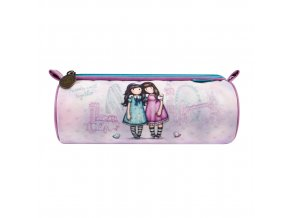 326GJ11 Gorjuss Cityscape Round Pencil Case FWT 1 WR