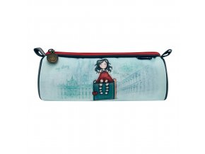 326GJ12 Gorjuss Cityscape Round Pencil Case MS 1 WR
