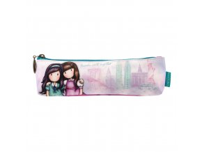 775GJ01 Gorjuss Cityscape Pencil Case Friends Walk Together 1 WR