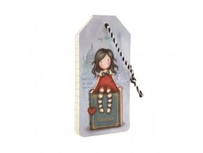 664GJ07 Gorjuss Cityscape Luggage Tag Notebook MS 2 WR