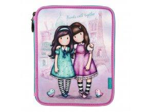 688GJ05 Gorjuss Cityscape Double Filled Pencil Case Friends Walk Together 1  WR 9b563d9e3b