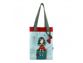 794GJ02 Gorjuss Cityscape Tote Bag with Pocket MS 1 WR