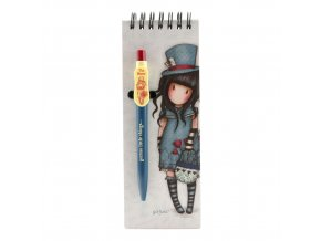 799GJ10 Gorjuss Jotter with Pen The Hatter 1 WR