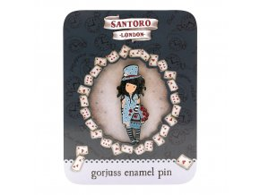 532GJ02 Gorjuss Enamel Pin The Hatter 1 WR