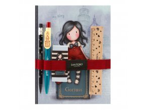 602GJ06 Gorjuss Cityscape Notebook with Stationery Set MS 1 WR