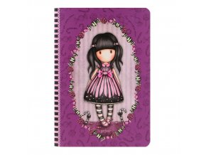 314GJ29 Gorjuss A5 Stitched Notebook Sugar And Spice 1 WR