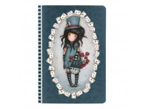 314GJ32 Gorjuss A5 Stitched Notebook The Hatter 1 WR