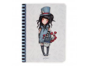 808GJ04 Gorjuss A6 Frosted Notebook TH 1 WR