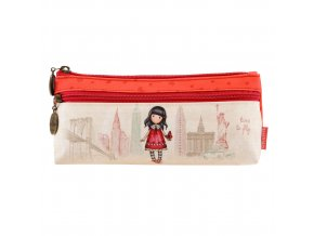 776GJ02 Gorjuss Cityscape Zipped Pocket Pencil Case Friends Time To Fly 1 WR
