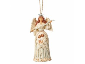 White Woodland Nativity Angel (Ornament)