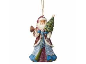 Victorian Santa Holding Tree (Ornament)